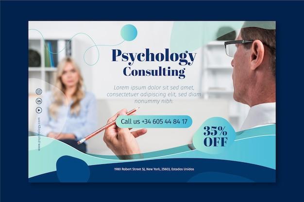Plantilla de banner de psicología