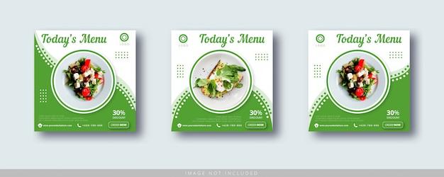 Plantilla de banner de publicación de instagram y redes sociales de venta de alimentos