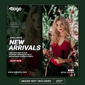 Plantilla de banner de publicación de instagram de redes sociales de venta de moda moderna