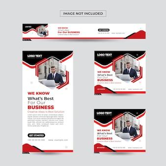 Plantilla de banner de publicación de redes sociales de marketing digital