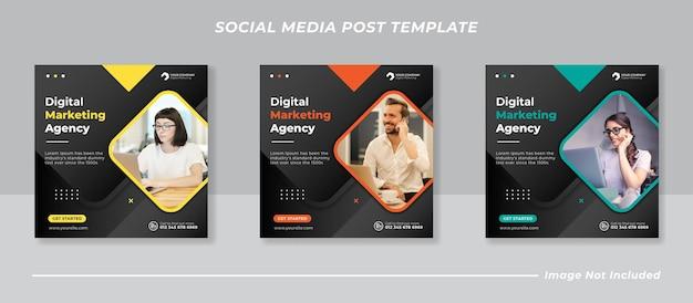 Plantilla de banner de publicación de redes sociales de marketing empresarial