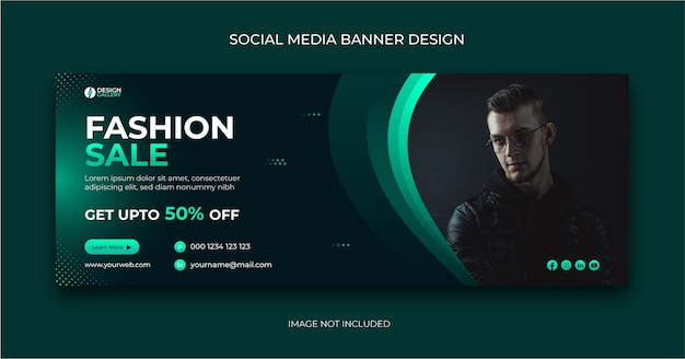 Plantilla de banner de publicación de redes sociales de venta de moda