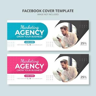 Plantilla de banner de redes sociales de agencia de marketing