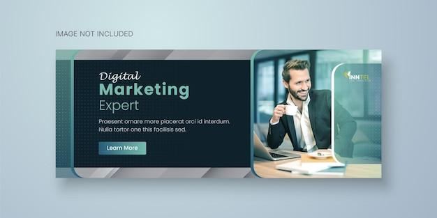 Plantilla de banner de redes sociales empresariales con diseño de portada de facebook vector premium