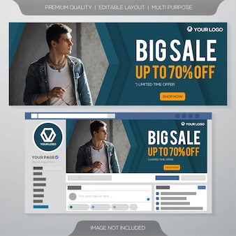 Plantilla de banner de redes sociales de gran venta