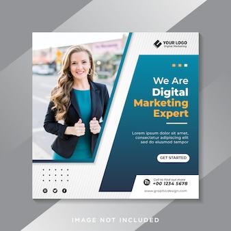 Plantilla de banner de redes sociales de marketing digital