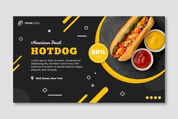Plantilla de banner de restaurante de comida americana