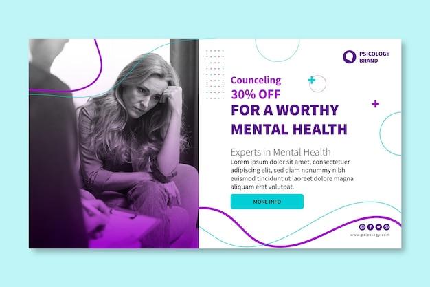 Plantilla de banner de salud mental