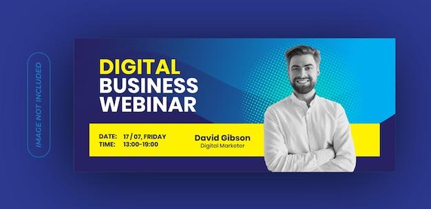 Plantilla de banner de seminario web de negocios digitales