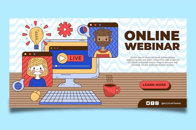 Plantilla de banner de seminario web