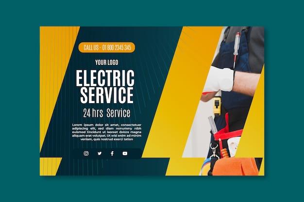 Plantilla de banner de servicio de electricista