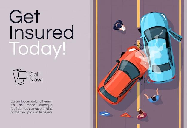 Plantilla de banner de servicios de seguros