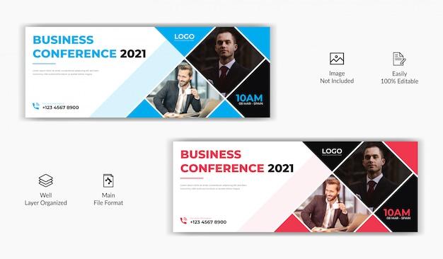 Plantilla de banner de sitio web en línea para la página de portada de facebook de negocios corporativos corporativos promocionales