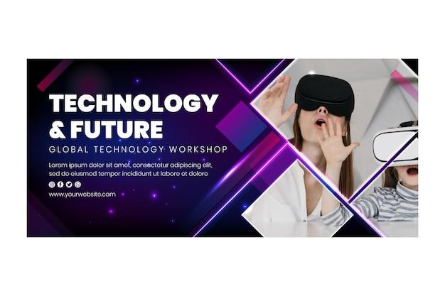 Plantilla de banner de tecnología y futuro