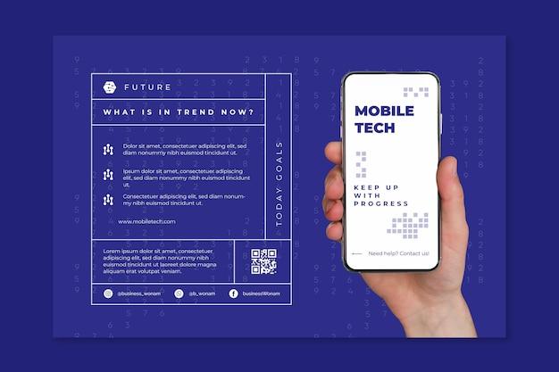 Plantilla de banner de tecnología móvil