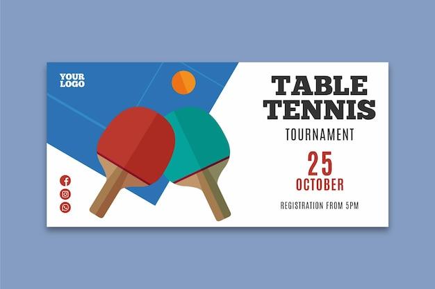 Plantilla de banner de tenis de mesa