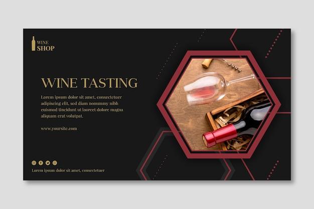Plantilla de banner de tienda de vinos