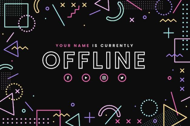 Plantilla de banner de twitch sin conexión