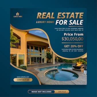 Plantilla de banner de venta de casa inmobiliaria