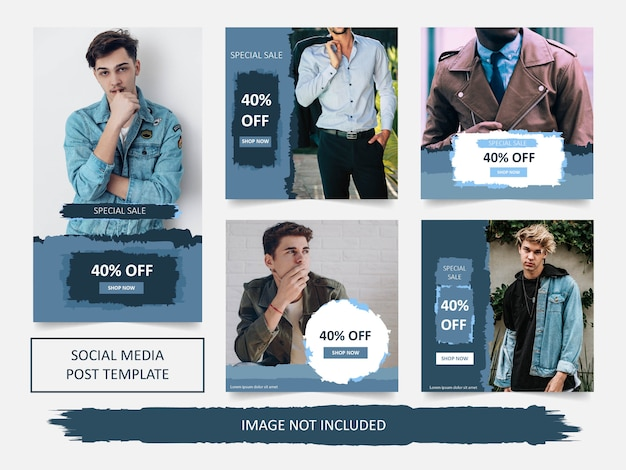 Plantilla de banner de venta de moda de redes sociales modernas