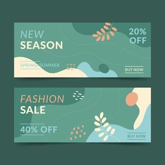 Plantilla de banner de venta de moda