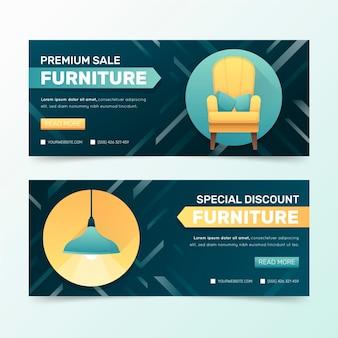 Plantilla de banner de venta de muebles