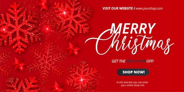 Plantilla de banner de venta de navidad