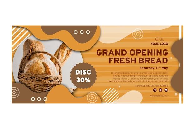 Plantilla de banner de venta de pan