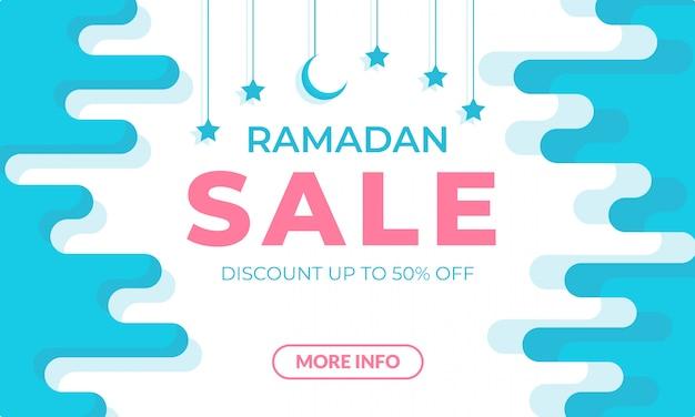 Plantilla de banner de venta de ramadán