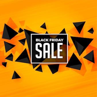 Plantilla de banner de venta de viernes negro de estilo abstracto
