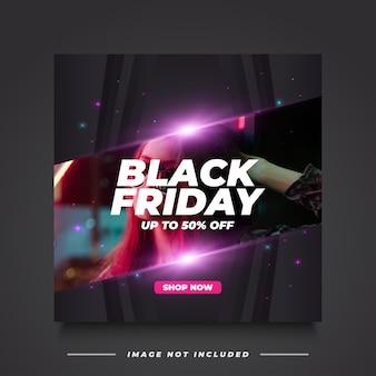 Plantilla de banner de venta de viernes negro en estilo elegante