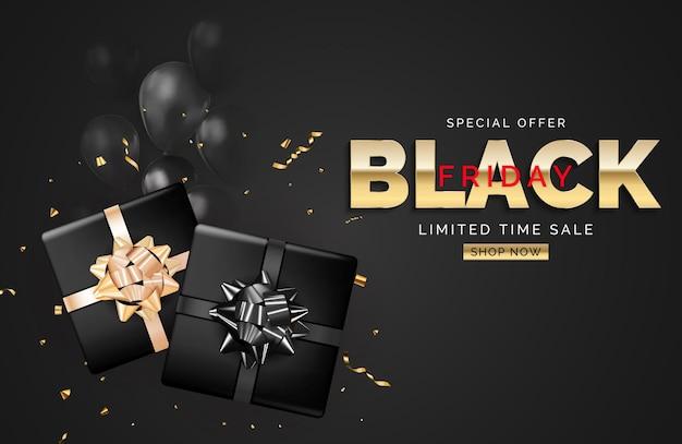 Plantilla de banner de venta de viernes negro. ilustración vectorial