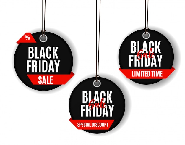 Plantilla de banner de venta de viernes negro. ilustración