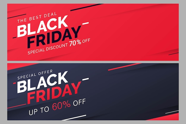 Plantilla de banner de venta de viernes negro para promoción empresarial