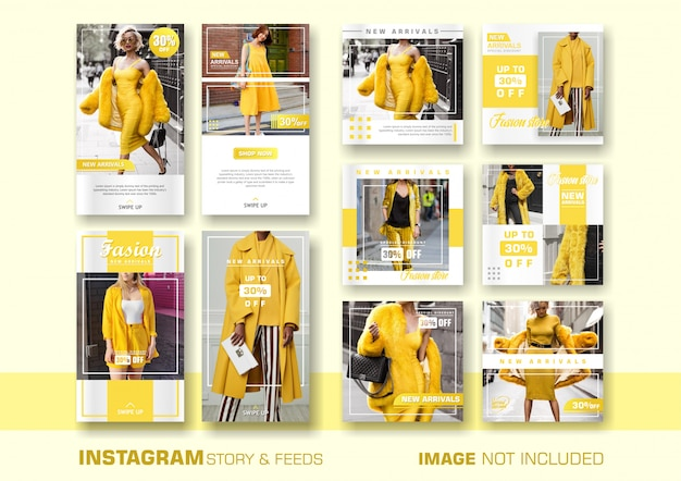 Plantilla de banner de ventas amarillo