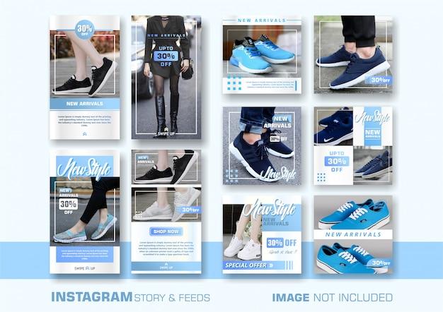 Plantilla de banner de ventas azul