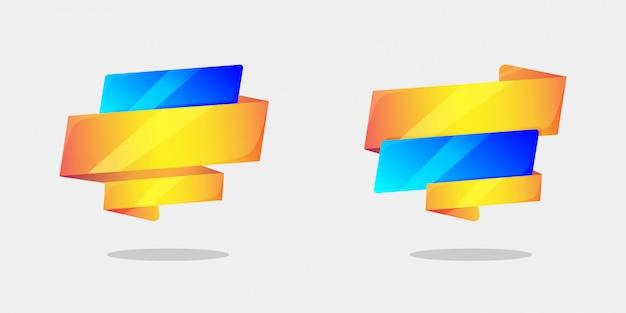 Plantilla de banner de ventas en concepto de estilo origami