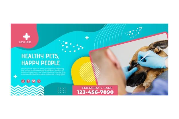 Plantilla de banner veterinario