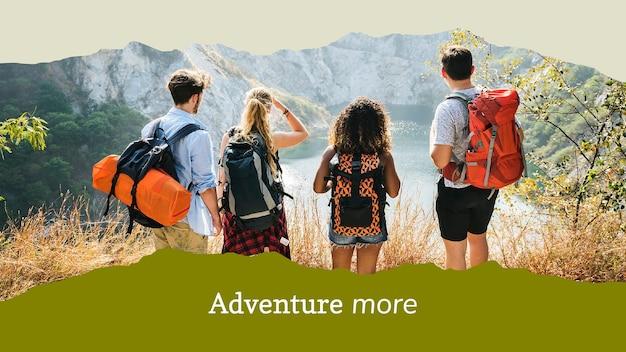 Plantilla de banner de viajes editable para bloggers