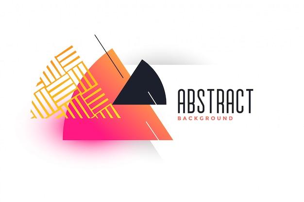 Plantilla de banner vibrante triángulo abstracto