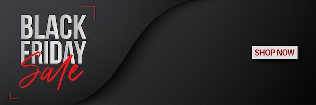 Plantilla de banner de viernes negro