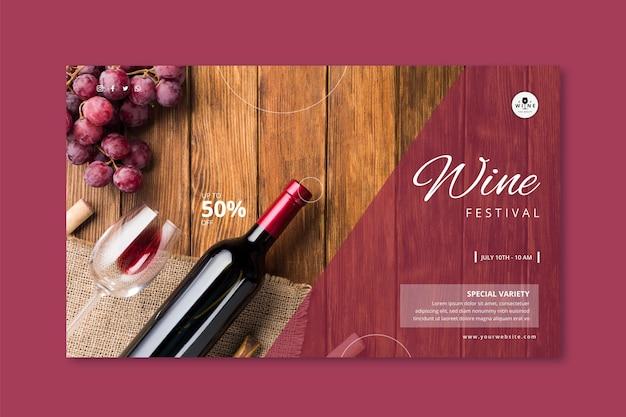 Plantilla de banner de vino