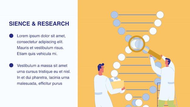 Plantilla de banner web de ciencia e investigación