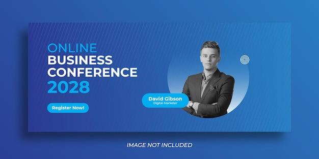 Plantilla de banner web de conferencia de negocios