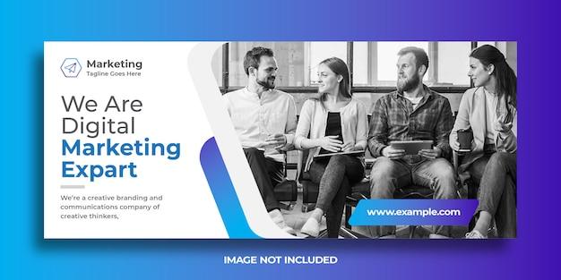 Plantilla de banner web empresarial de marketing digital Vector Premium
