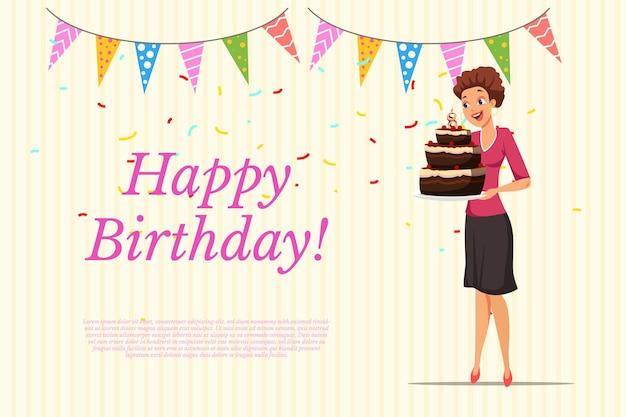 Plantilla de banner web de feliz cumpleaños