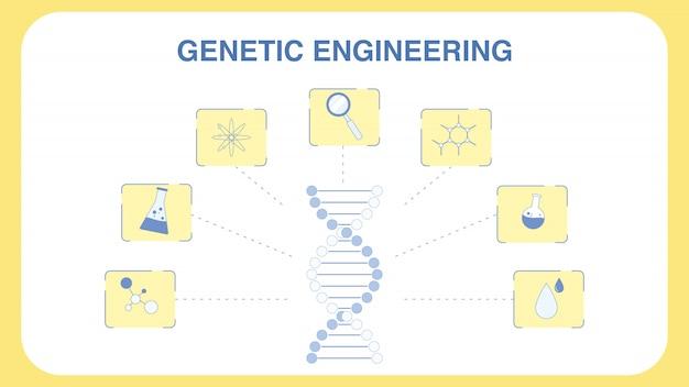 Plantilla de banner web de ingeniería genética