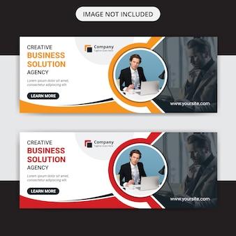Plantilla de banner web de marketing empresarial creativo