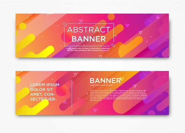 Plantilla de banner web moderno horizontal abstracto con gradiente