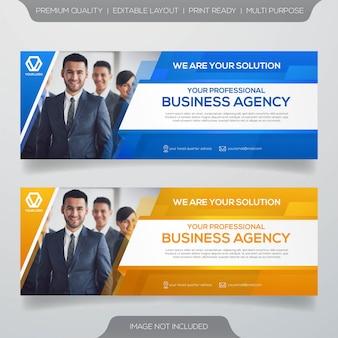 Plantilla de banner web de negocios
